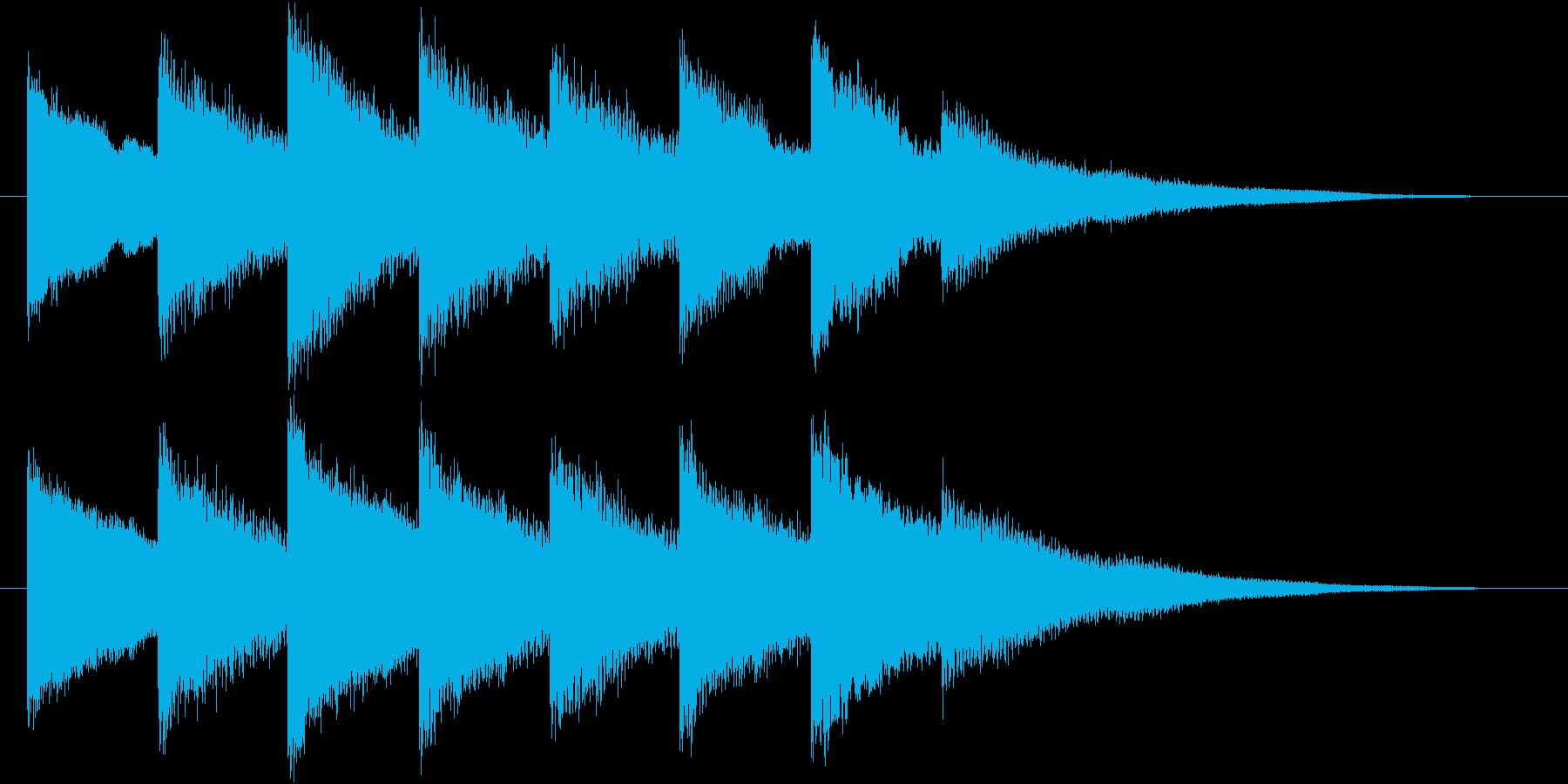 ホラー・不穏なベルの音2の再生済みの波形