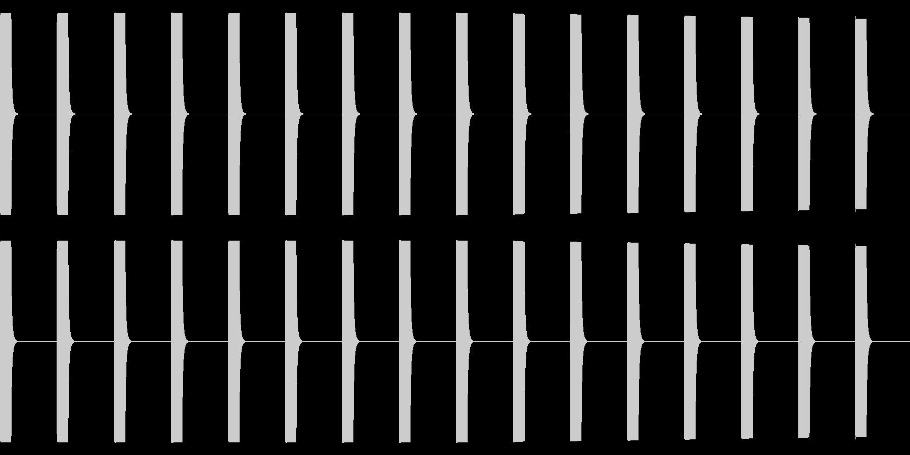 ピー、ピー、心電図の音の未再生の波形