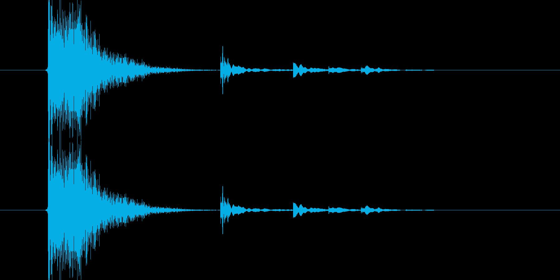 バーン、カラランの再生済みの波形
