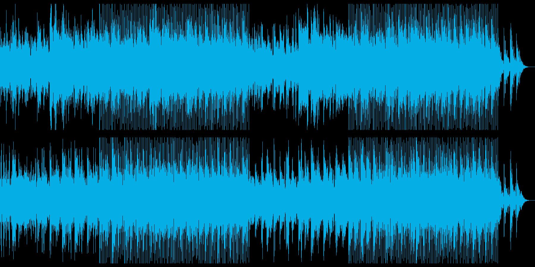 気持ちいいテクノ音楽の再生済みの波形