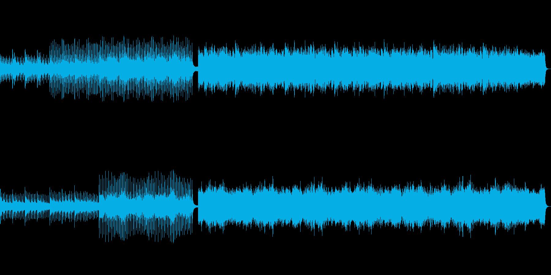 片思いの人との登校をイメージした曲の再生済みの波形