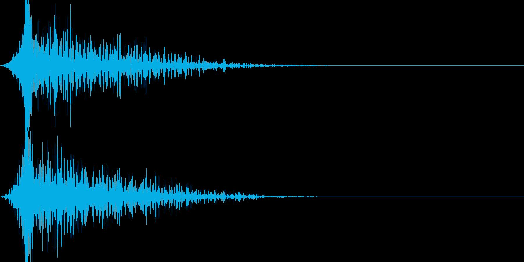 衝撃の展開_ガーンの再生済みの波形