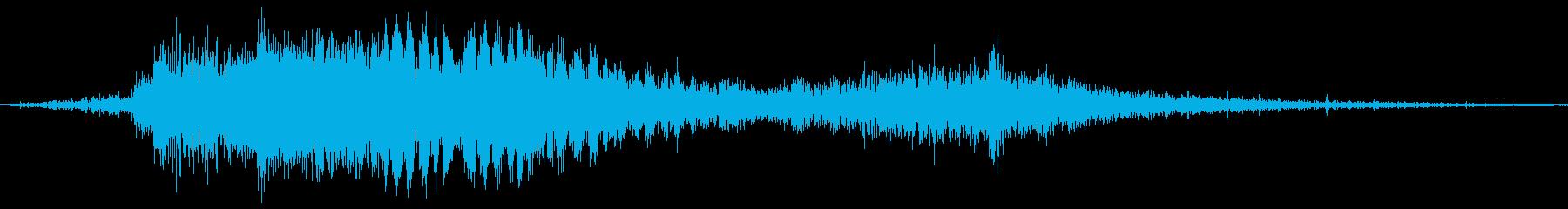 斬撃音!(刀や剣で斬る/刺す効果音)09の再生済みの波形