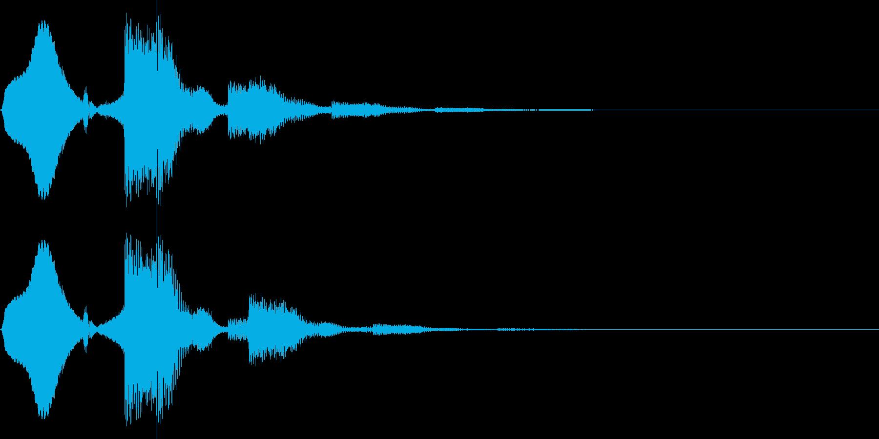 ボタン押下や決定音_ピコーン!の再生済みの波形