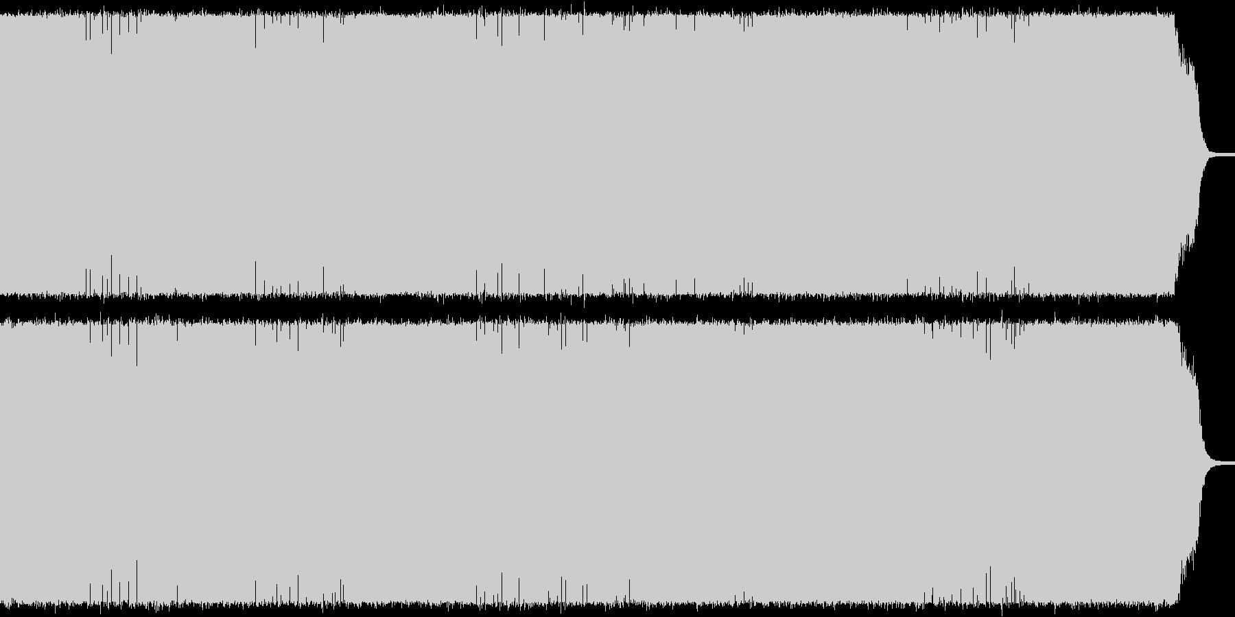 戦闘向けメタルギターインスト シャッフルの未再生の波形