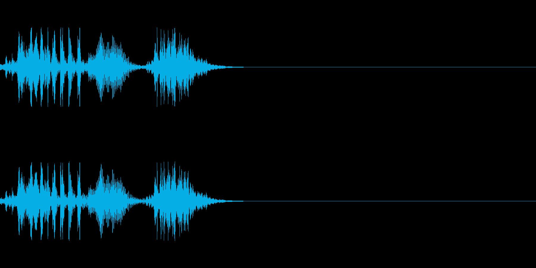 ゾンビのげっぷの再生済みの波形