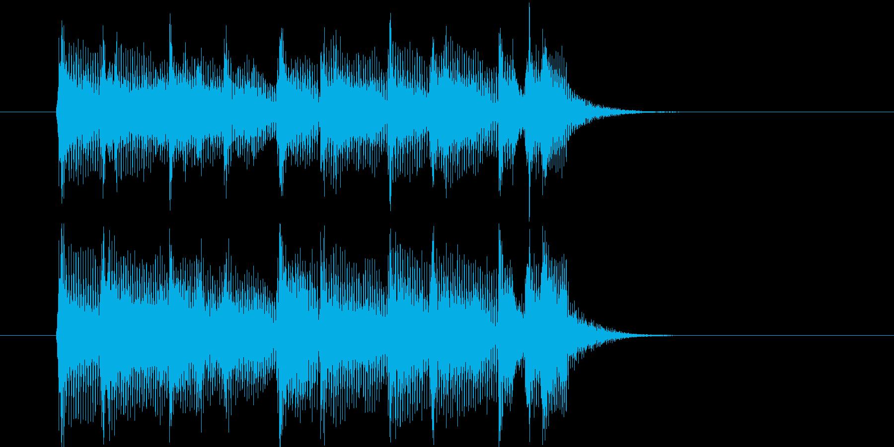 活発なバンド演奏のポップスのジングル曲の再生済みの波形