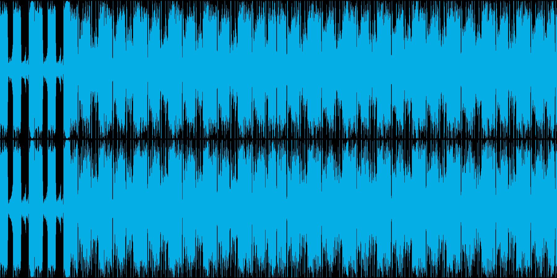 歪んだ重たいベースリフ 悪役の登場などにの再生済みの波形
