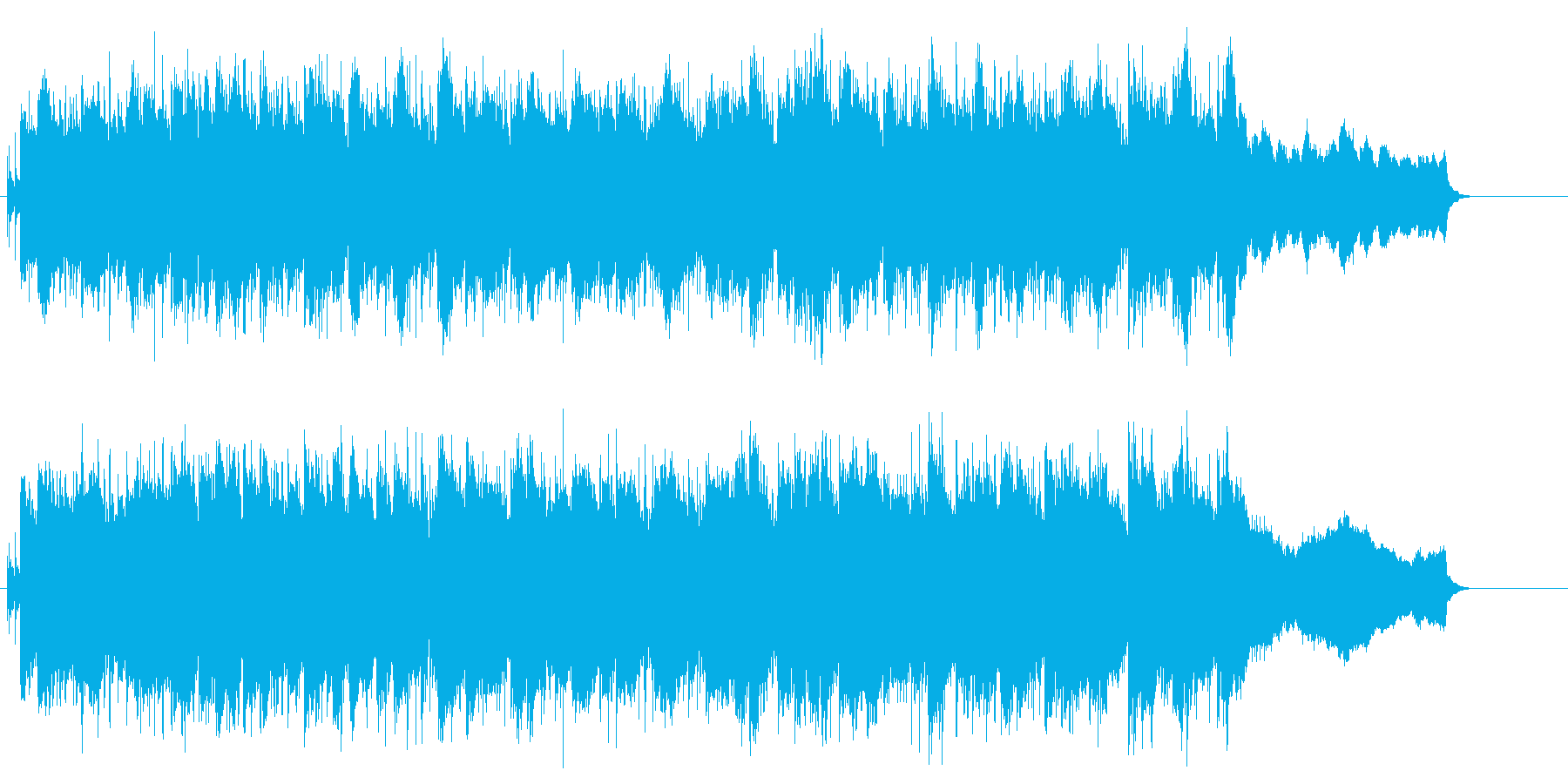 スケール感と哀愁味のあるBGMの再生済みの波形