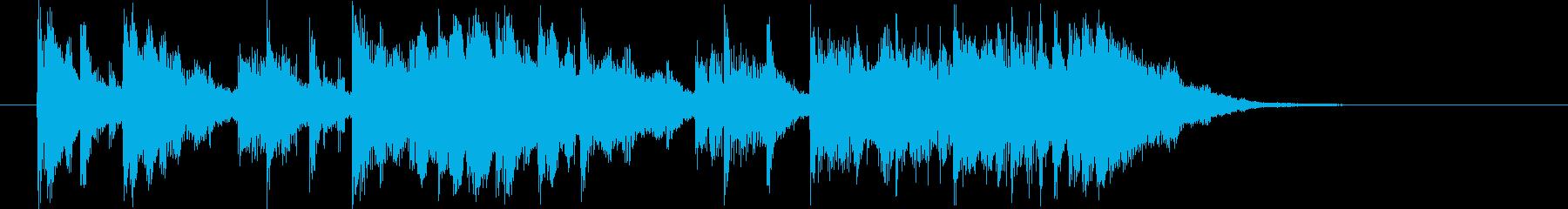 透明感があり鉄琴が印象的なBGMの再生済みの波形