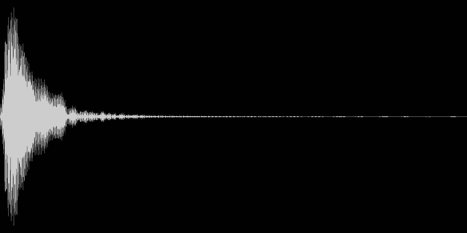 ポン(太鼓)の未再生の波形