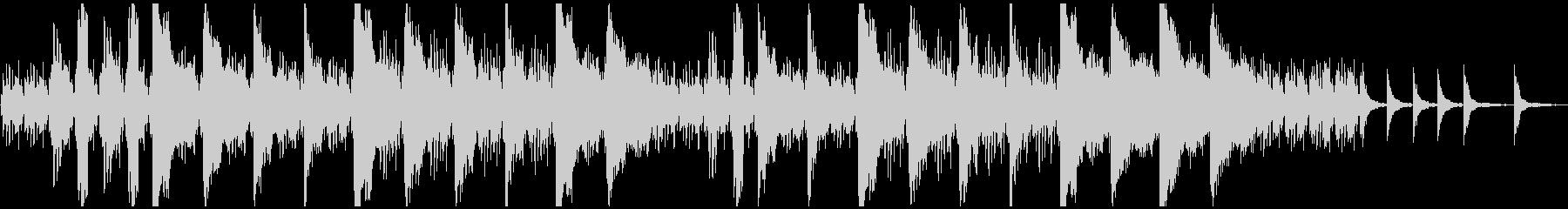 ピアノとストリングスのホラー系BGMの未再生の波形