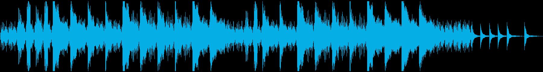 ピアノとストリングスのホラー系BGMの再生済みの波形