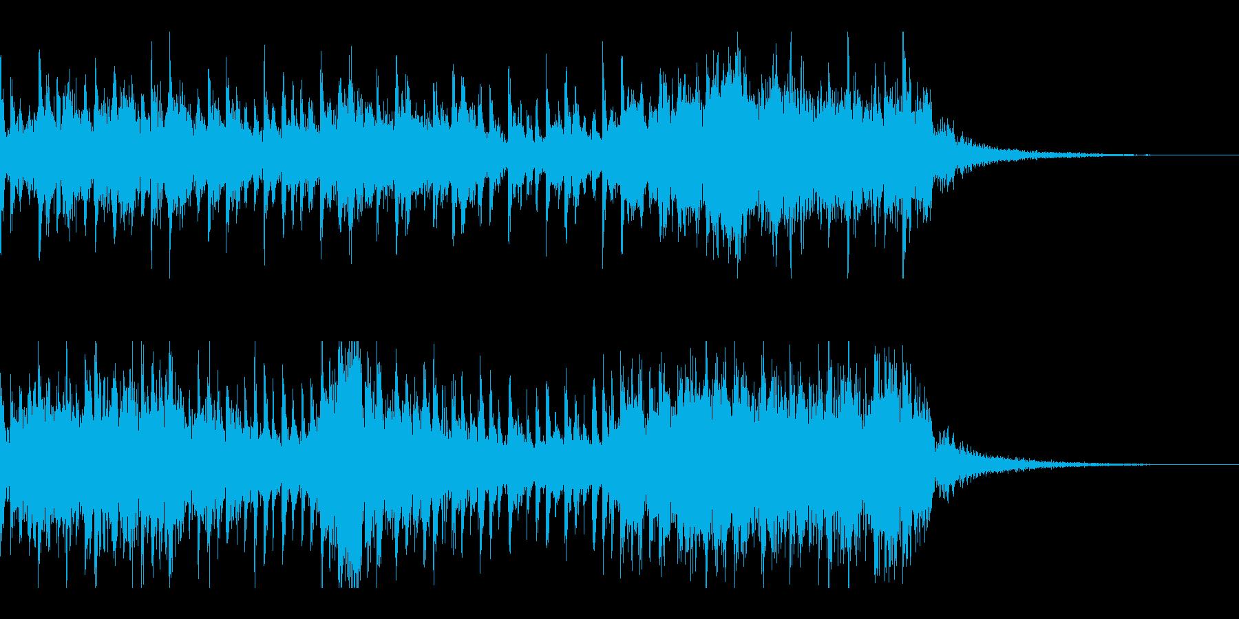 SF的エスニック風アイキャッチの再生済みの波形