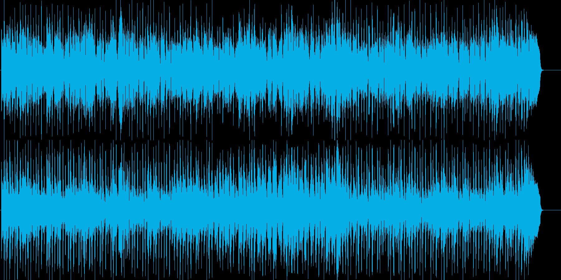 潜入するような淡々とした雰囲気のBGMの再生済みの波形