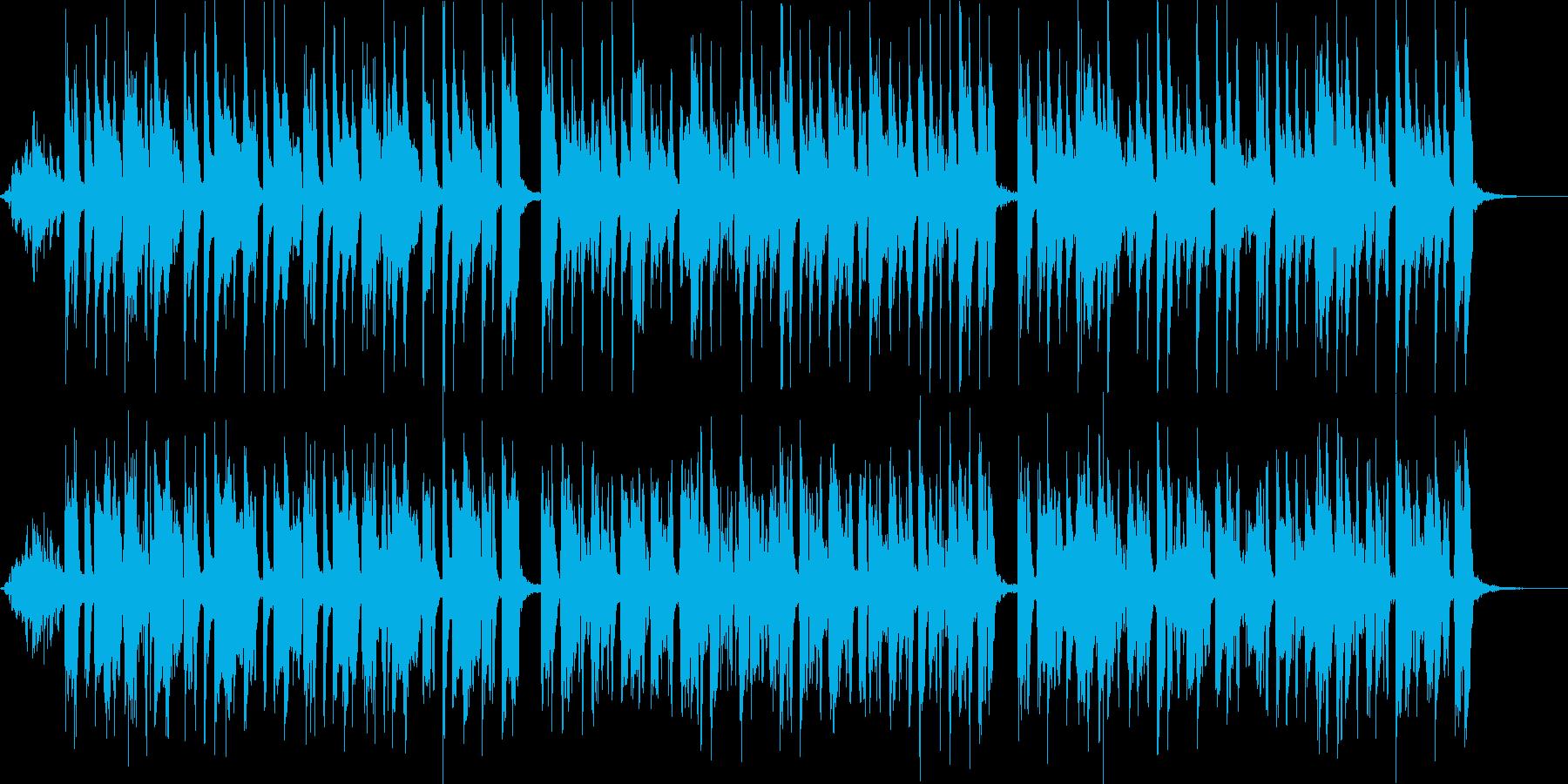 魔女のような怪しげでかわいい曲の再生済みの波形