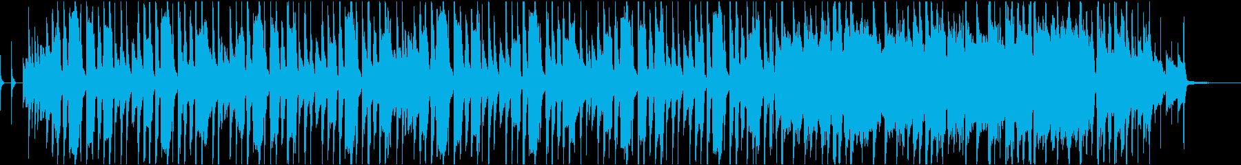 CMや映像用の楽しいトランペットの曲の再生済みの波形