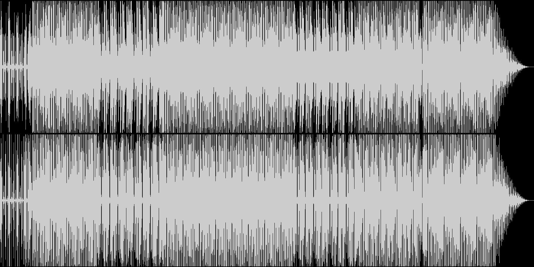 賑やかではないディスコハウスの未再生の波形
