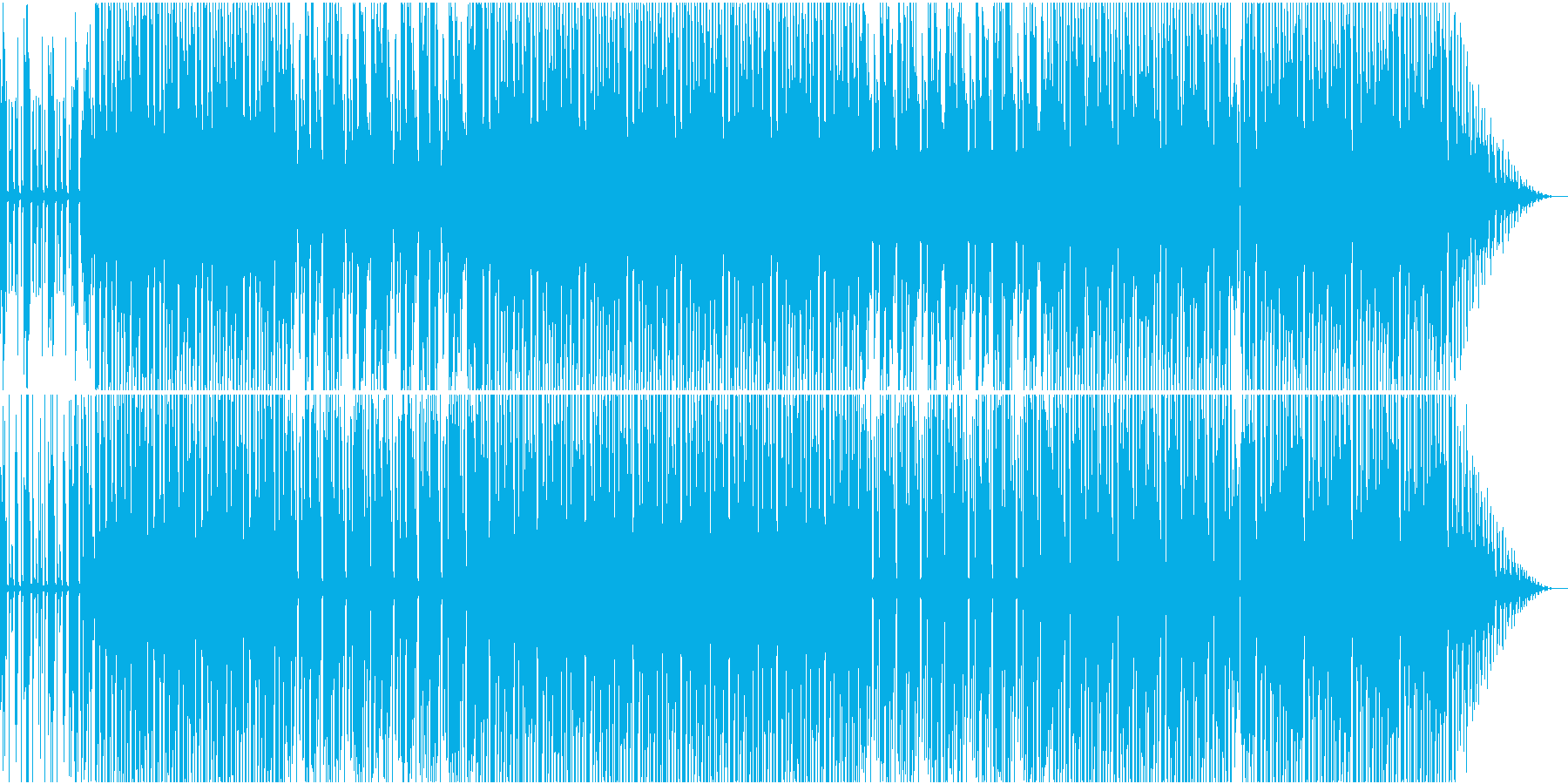 賑やかではないディスコハウスの再生済みの波形