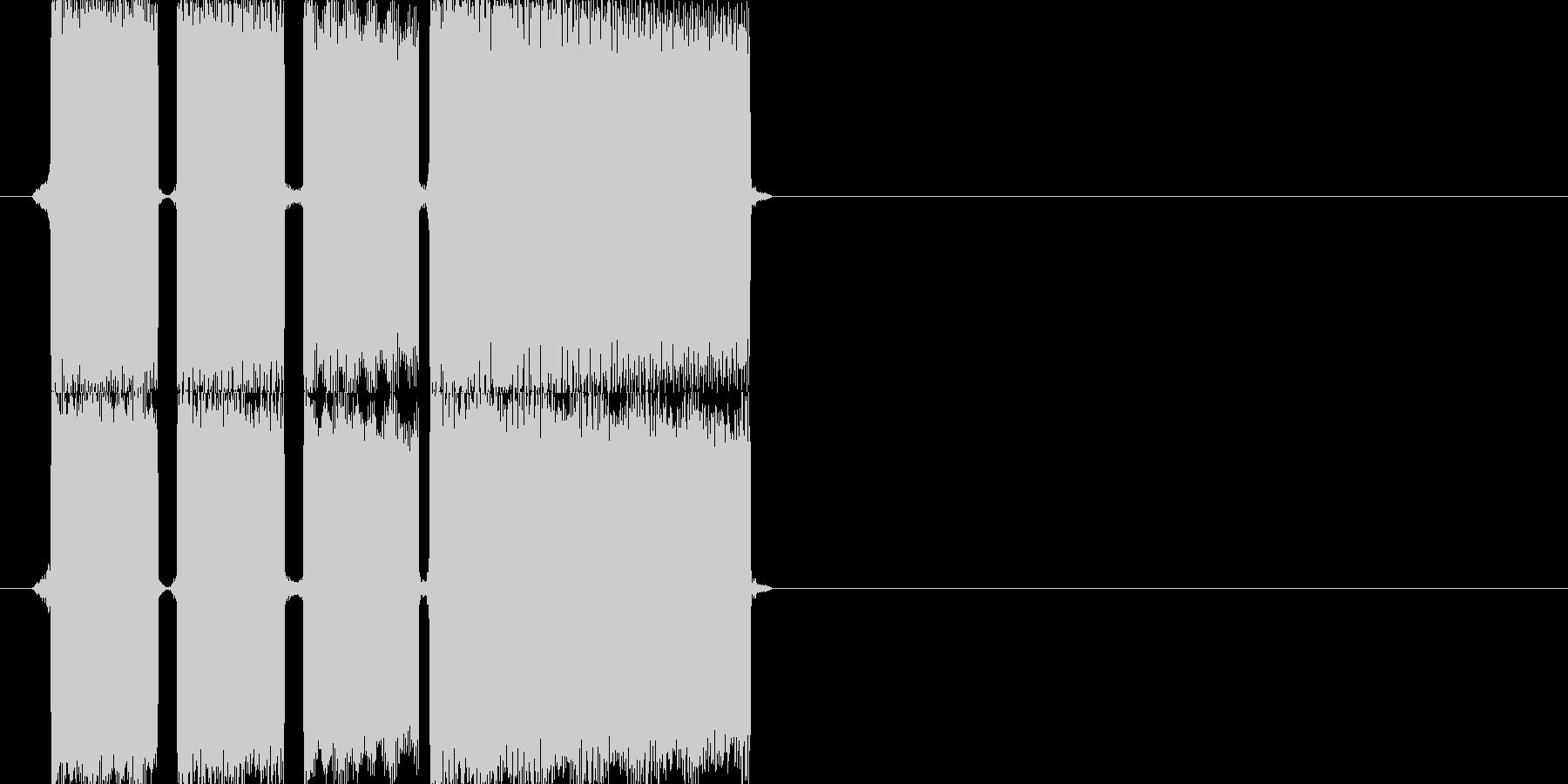 正解の時の効果音その2ですの未再生の波形