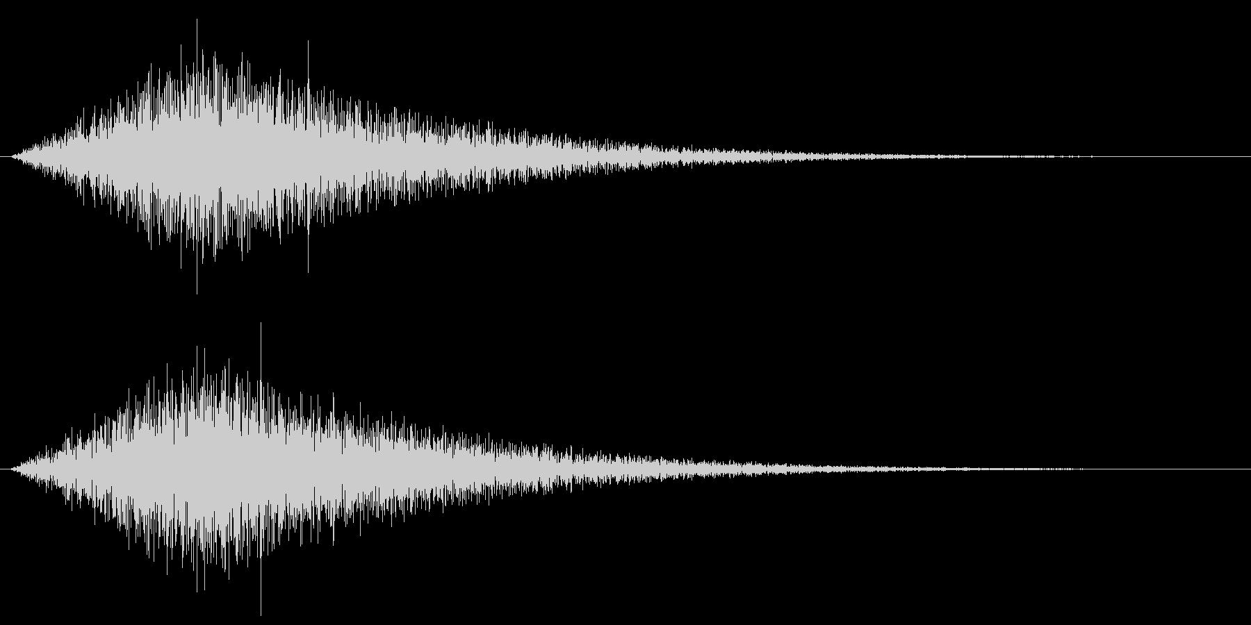 ザザーン、という波の音ですの未再生の波形
