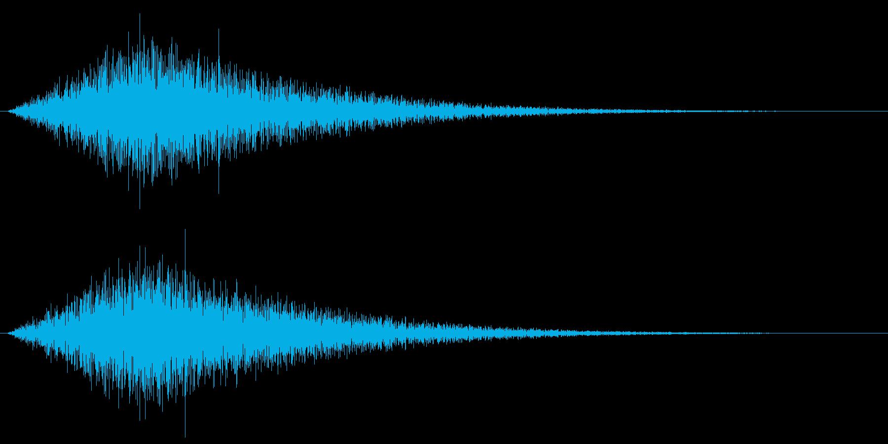 ザザーン、という波の音ですの再生済みの波形