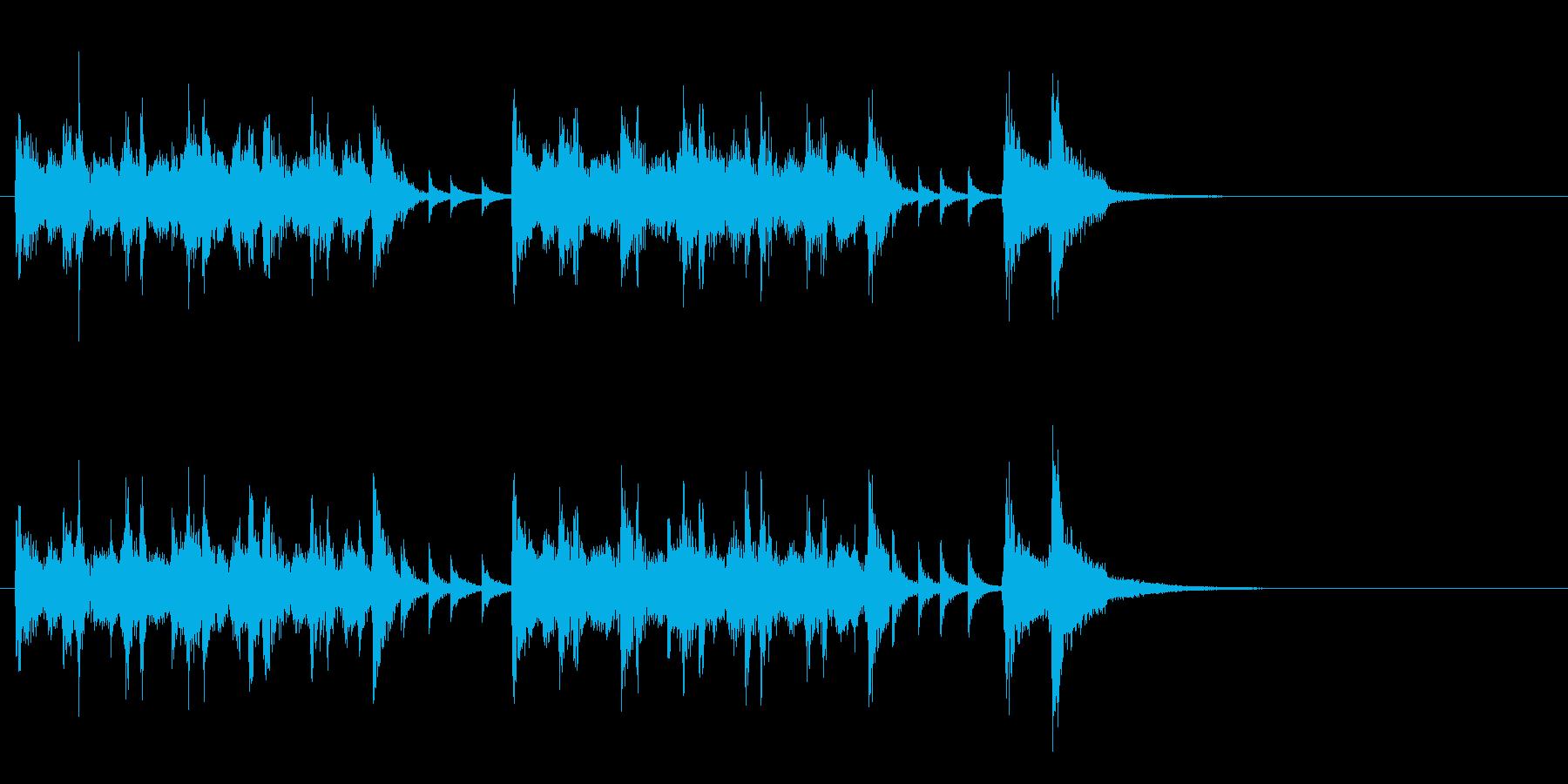 ジングル(ラテン風)の再生済みの波形