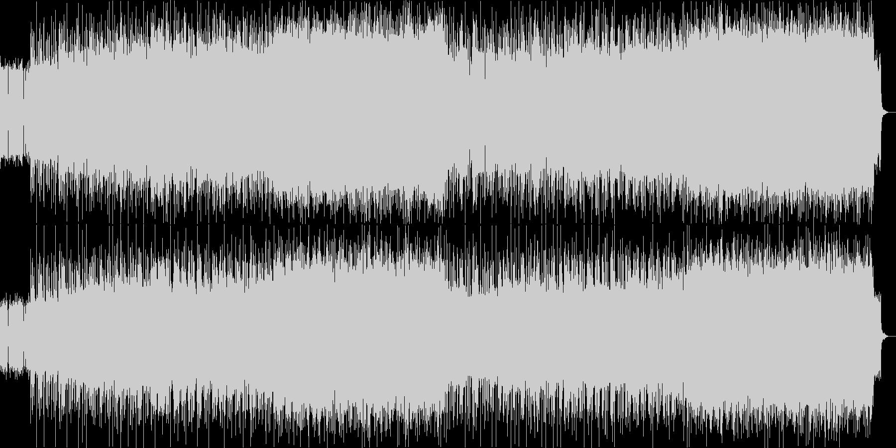 ディープパープル風のハードロックの未再生の波形