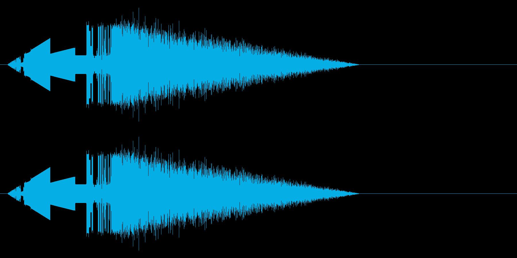レトロゲーム風斬撃3の再生済みの波形