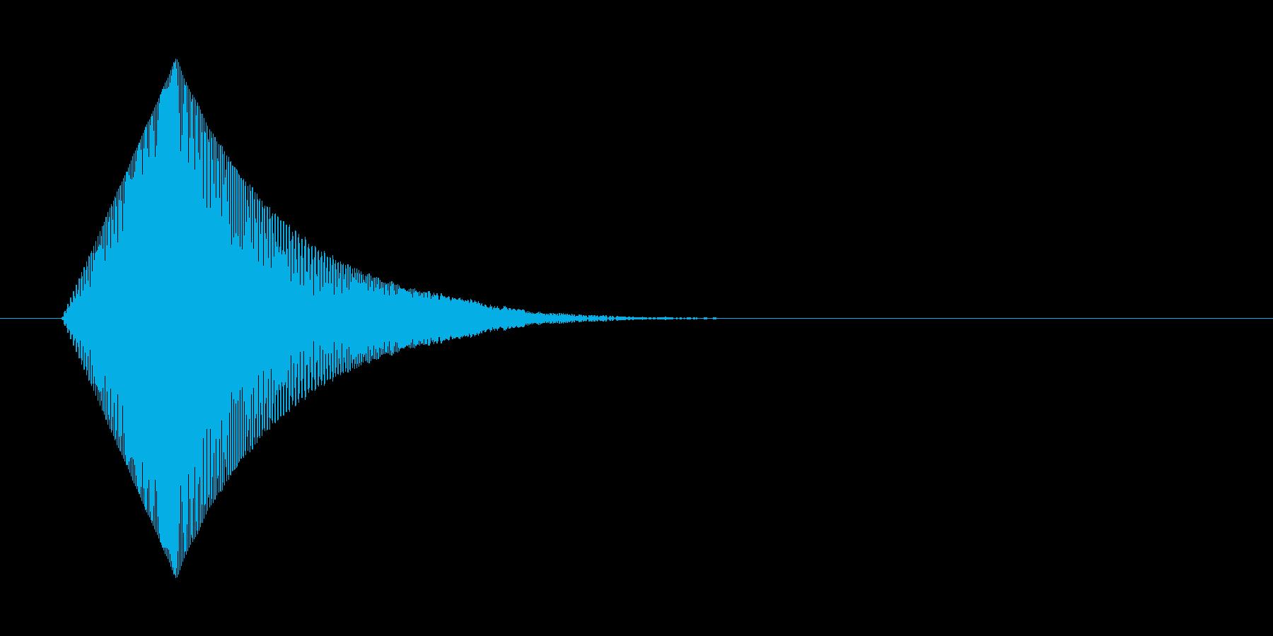 やわらかいものを触ったときの効果音の再生済みの波形