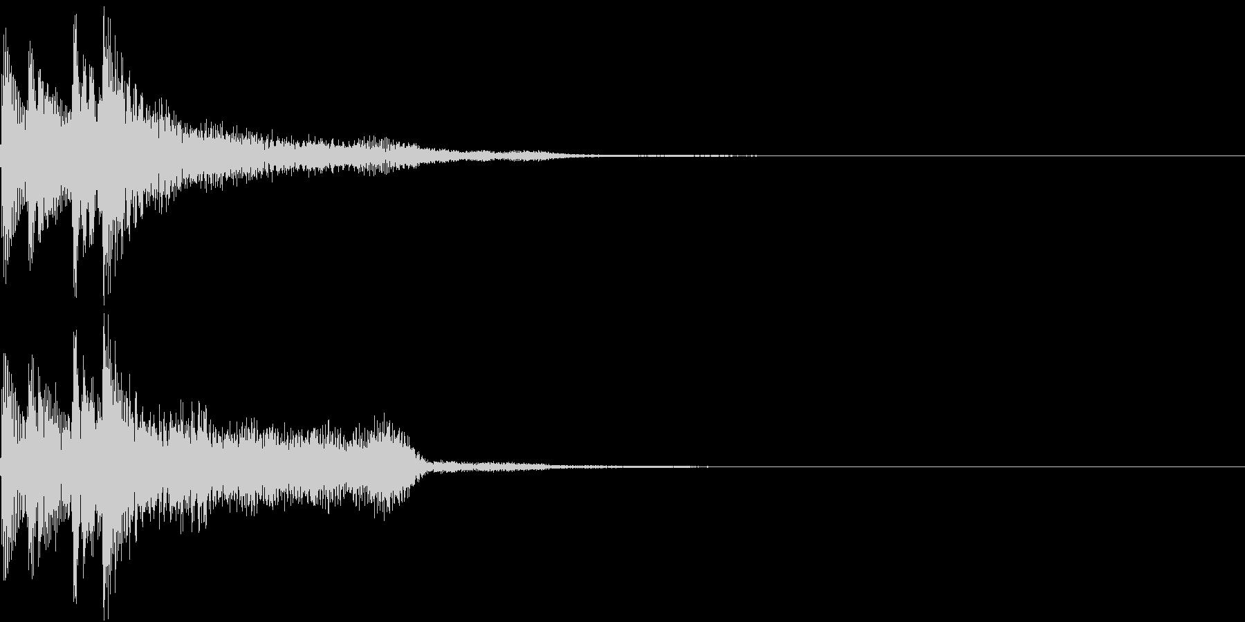 和風でシンプルな正解・開始(タラリラン)の未再生の波形