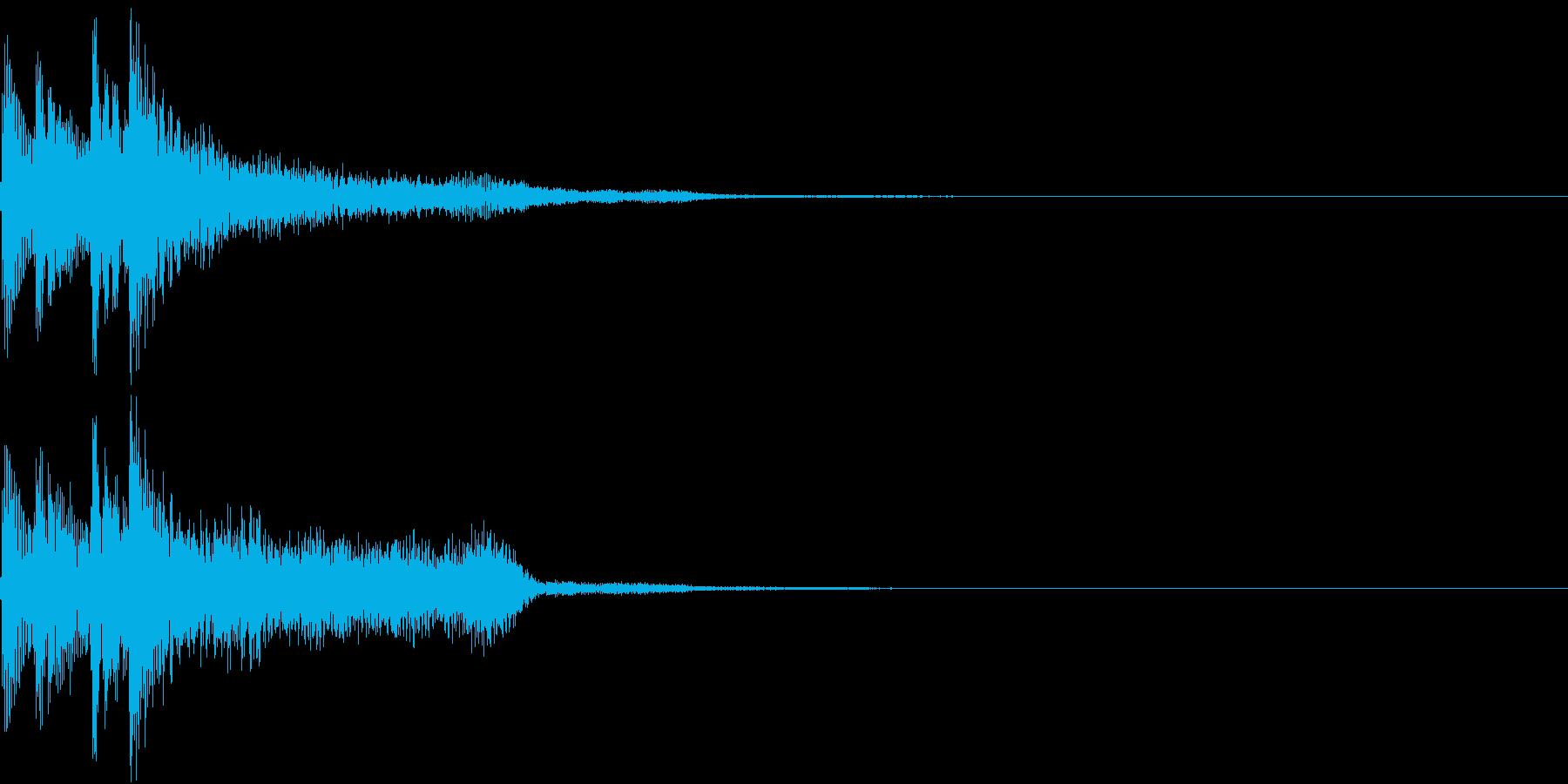 和風でシンプルな正解・開始(タラリラン)の再生済みの波形