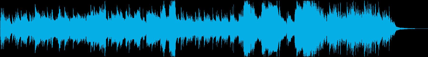 和楽器とピアノによる穏やかな曲ですの再生済みの波形