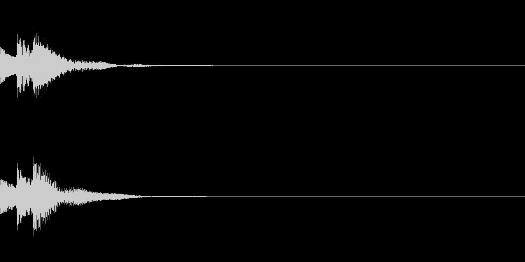 決定音15(かわいい)の未再生の波形