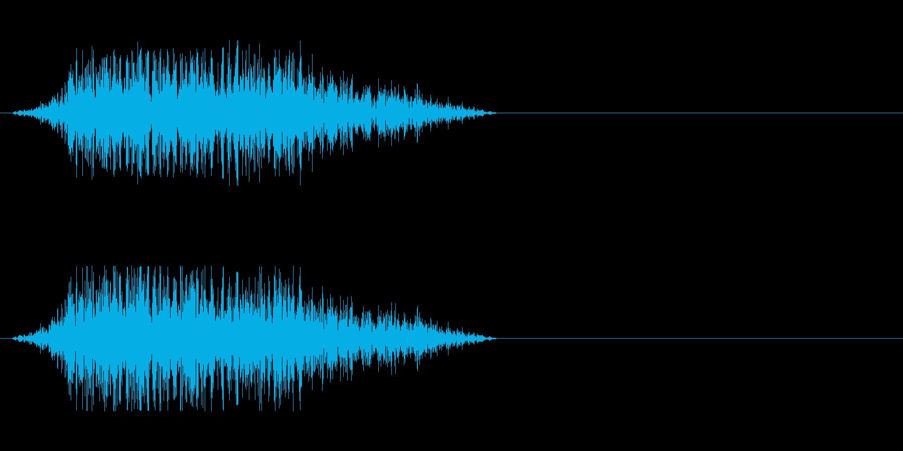 モンスターの発声 4の再生済みの波形
