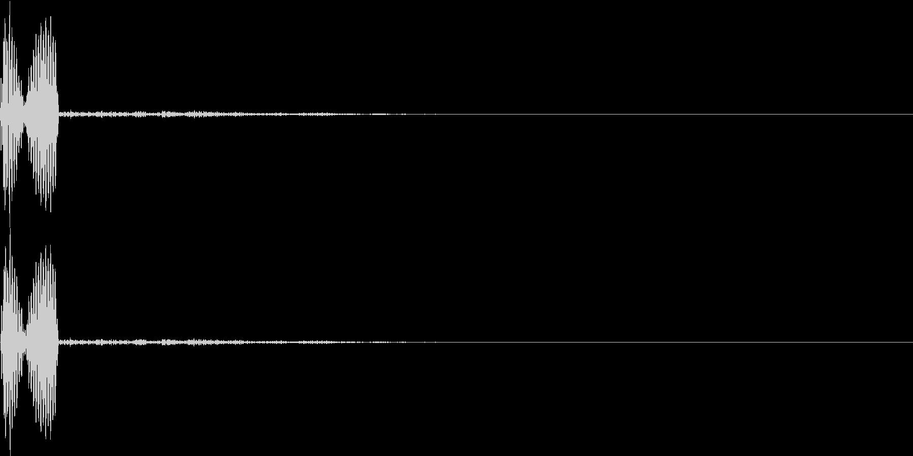 ブ(ミス、アウト、ダメージ、キャンセル)の未再生の波形