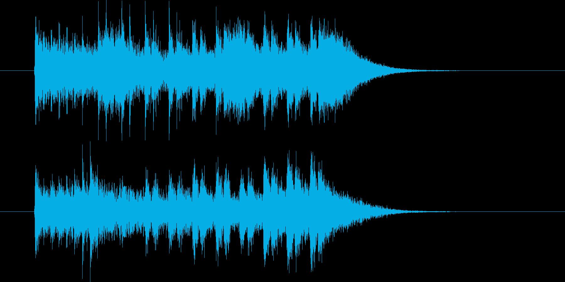 駆け抜けるような迫力のある曲の再生済みの波形