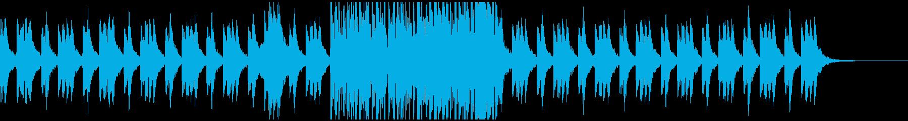 オーケストラ・ホラー系BGMの再生済みの波形