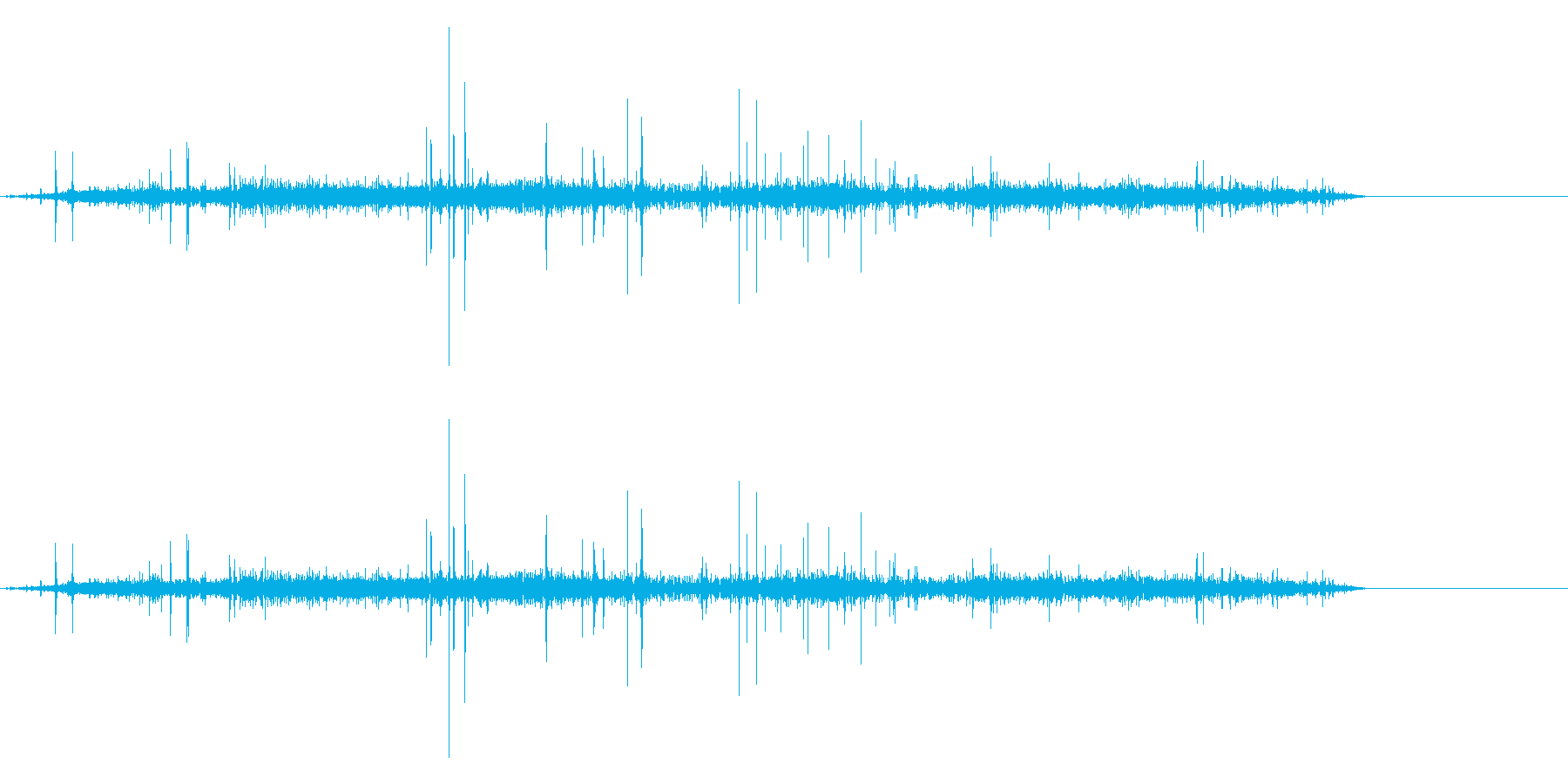 炭酸ジュースを注ぐの再生済みの波形