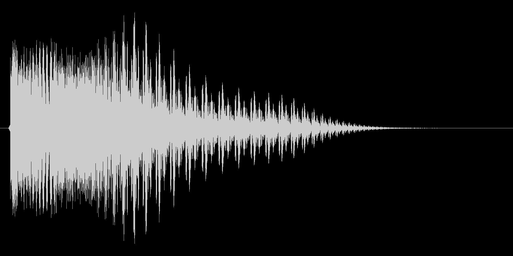 ピシューン(アプリ向け)の未再生の波形