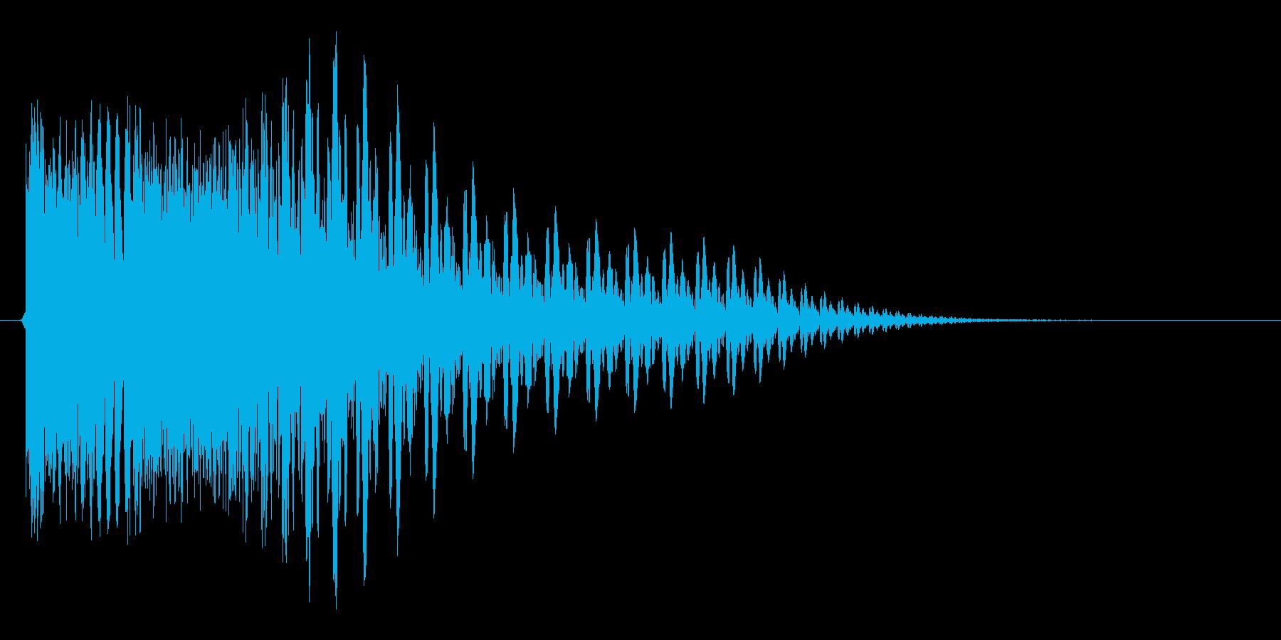 ピシューン(アプリ向け)の再生済みの波形