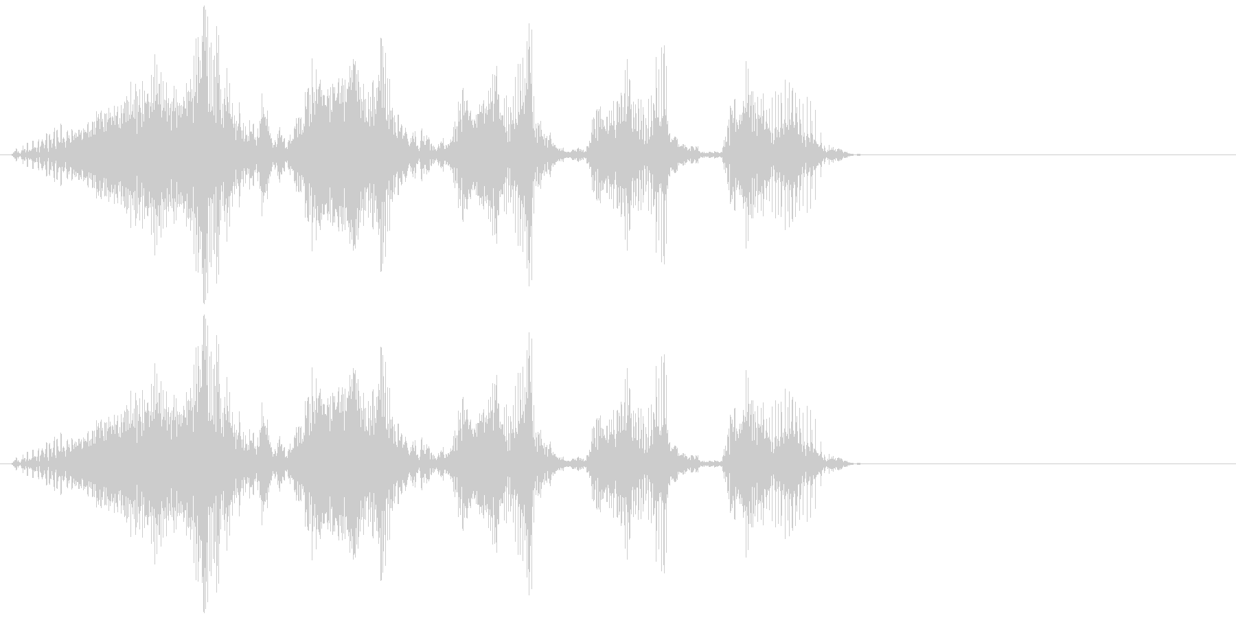 魔王の笑い声(低めのエフェクトボイス)の未再生の波形