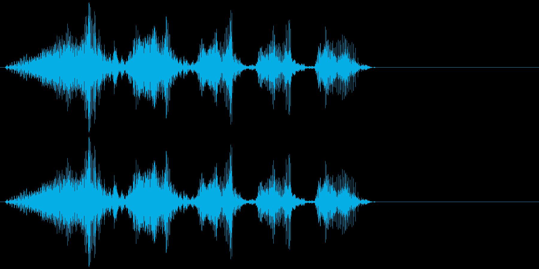魔王の笑い声(低めのエフェクトボイス)の再生済みの波形