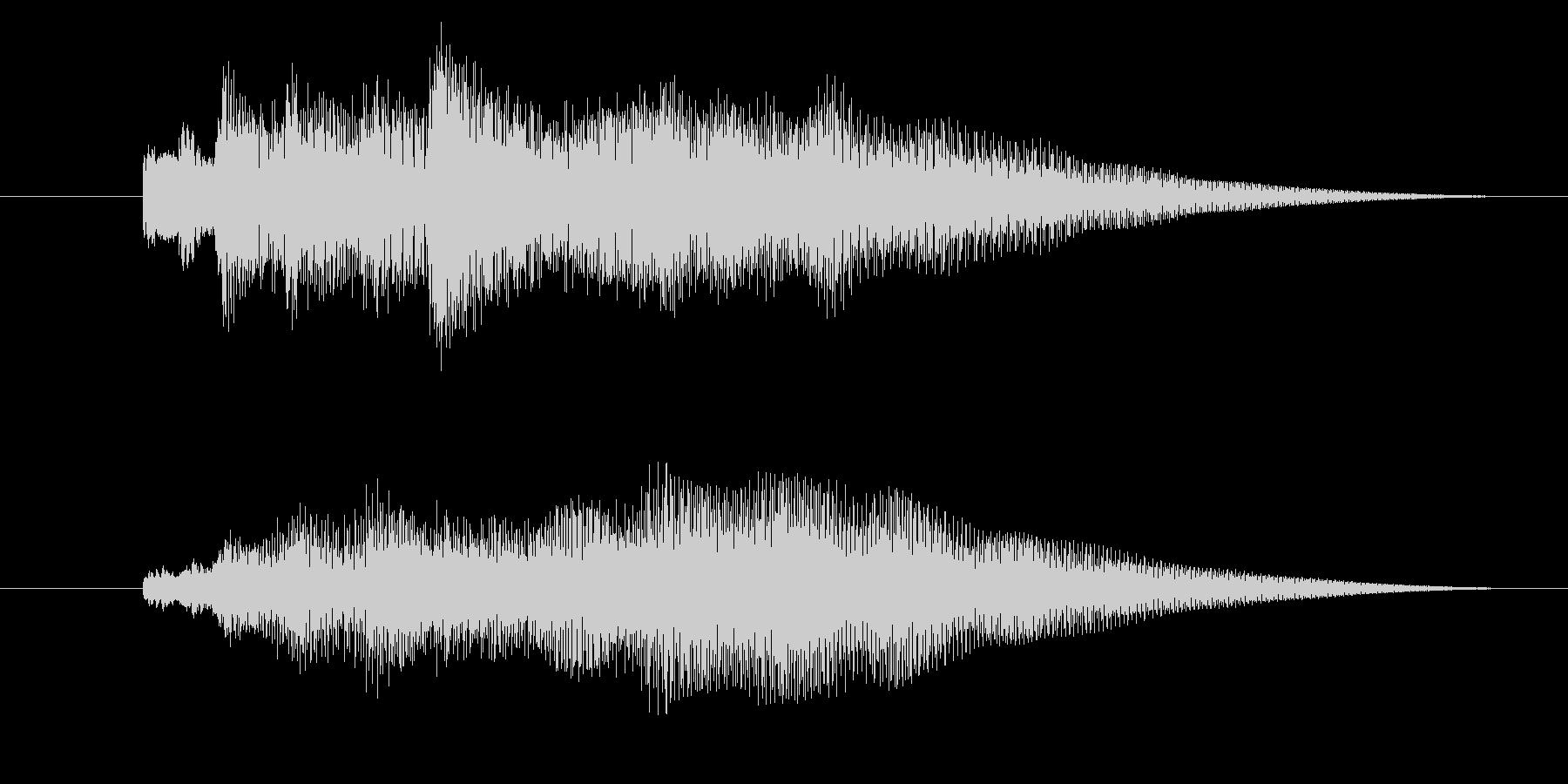 サウンドロゴ「ピアノ・ベル明るめ」の未再生の波形