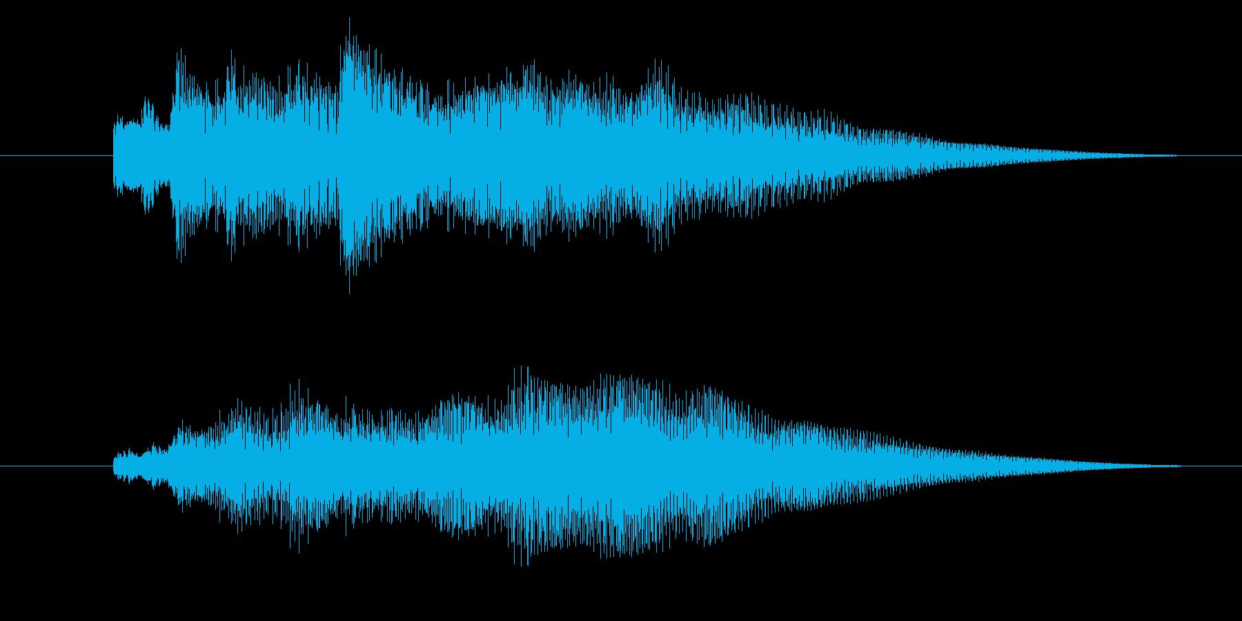 サウンドロゴ「ピアノ・ベル明るめ」の再生済みの波形