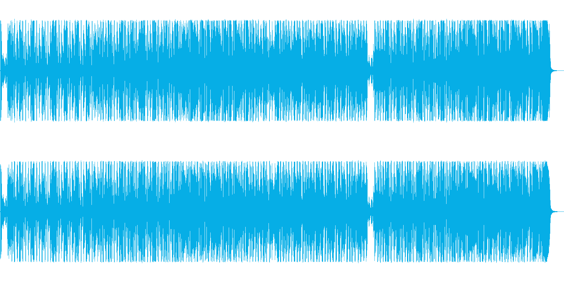 踊りだしたくなるファンキーソウルの再生済みの波形