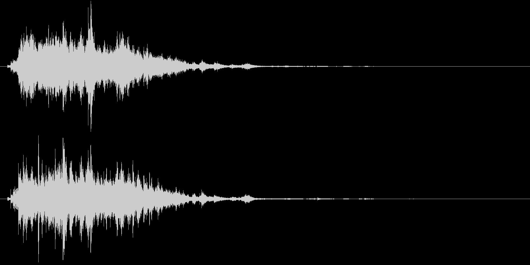 感動した時のキラキラ音の未再生の波形