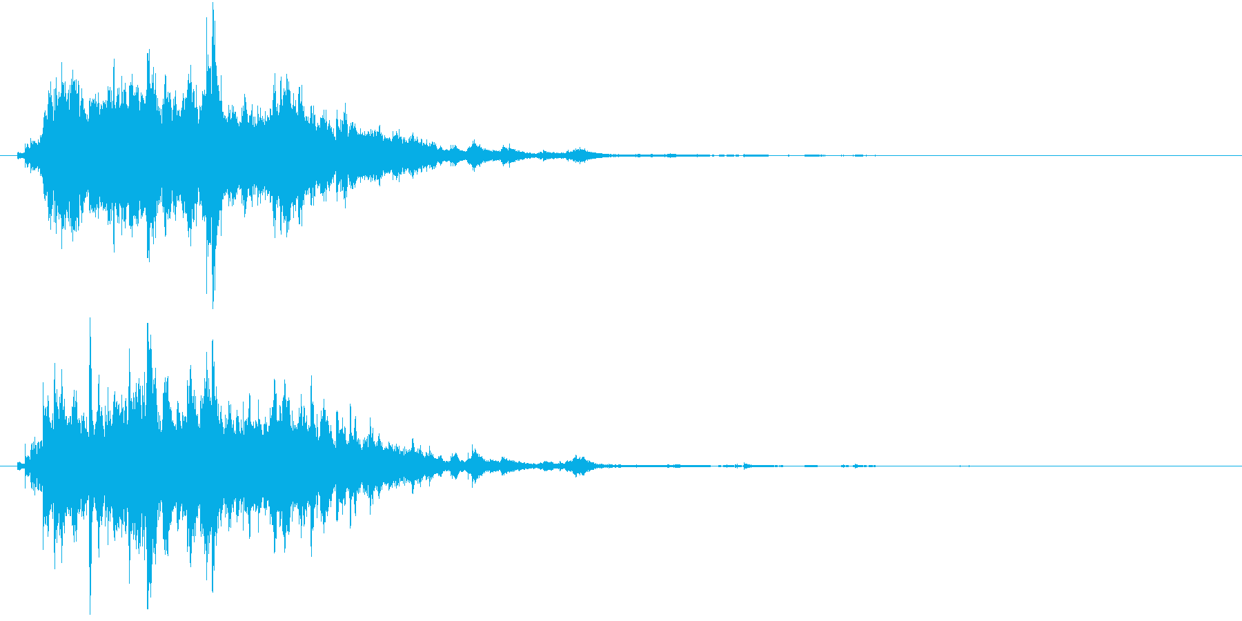 感動した時のキラキラ音の再生済みの波形