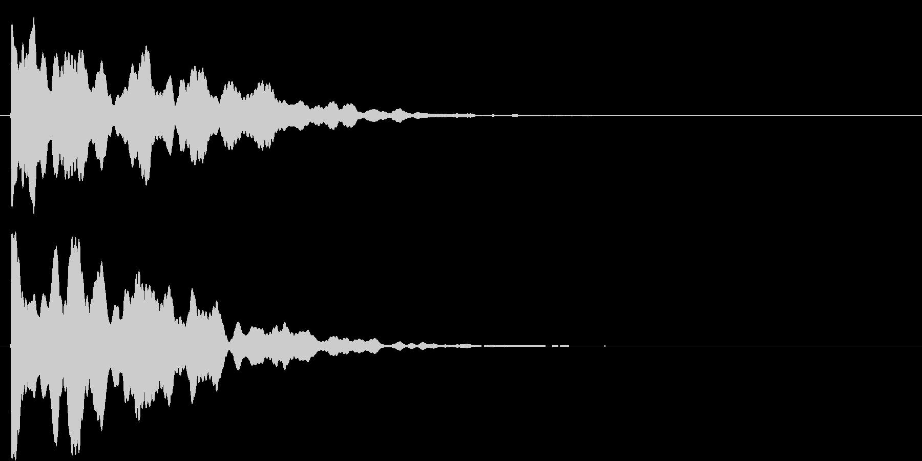 ポーン(決定音)の未再生の波形