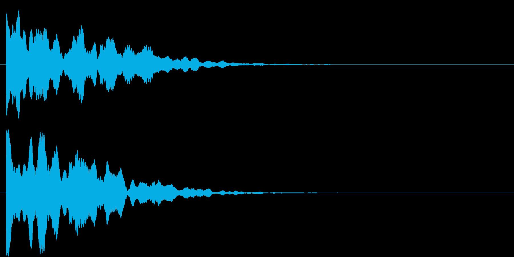 ポーン(決定音)の再生済みの波形